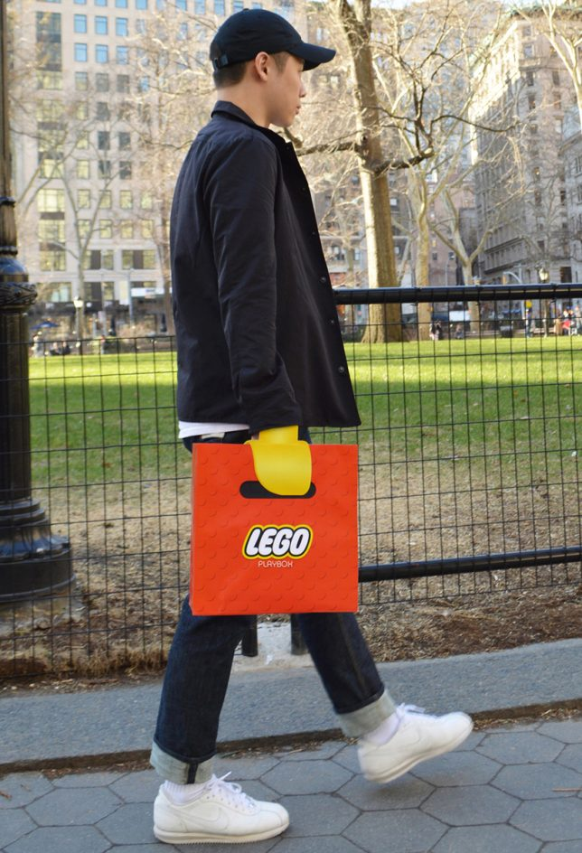 lego claw shopping bag