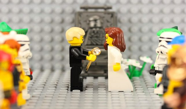 lego stop motion marriage proposal