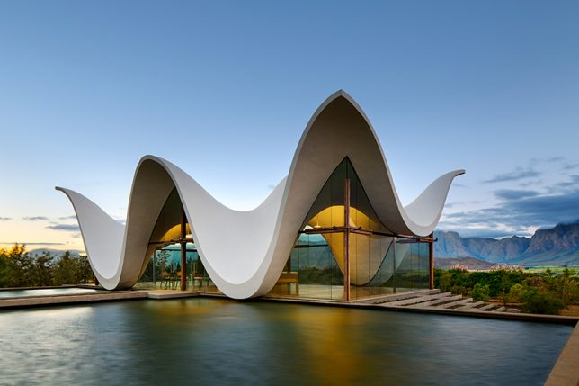 ... By Steyn Studio A Dramatic Silhouette, Mirroring The Jagged Outline Of  The South African Mountains And Referencing Regional Cape Dutch Architecture .