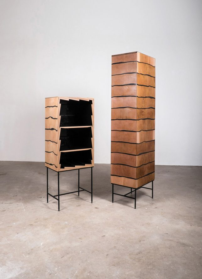 furniture design cabinet. simple furniture overlapping pieces of wood joined with a tarry black resin give the fuse  cabinet look tiled roof technique not often seen in furniture design and furniture design cabinet