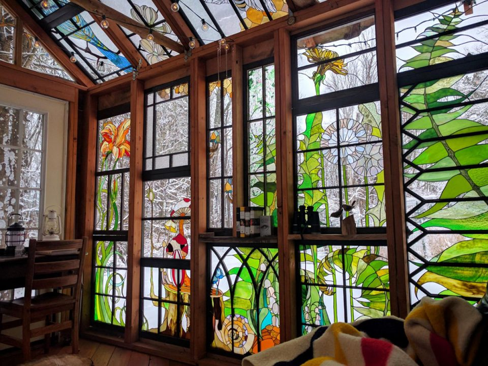 Holy Housing Stained Glass Walls Amp Ceiling Fill Cabin