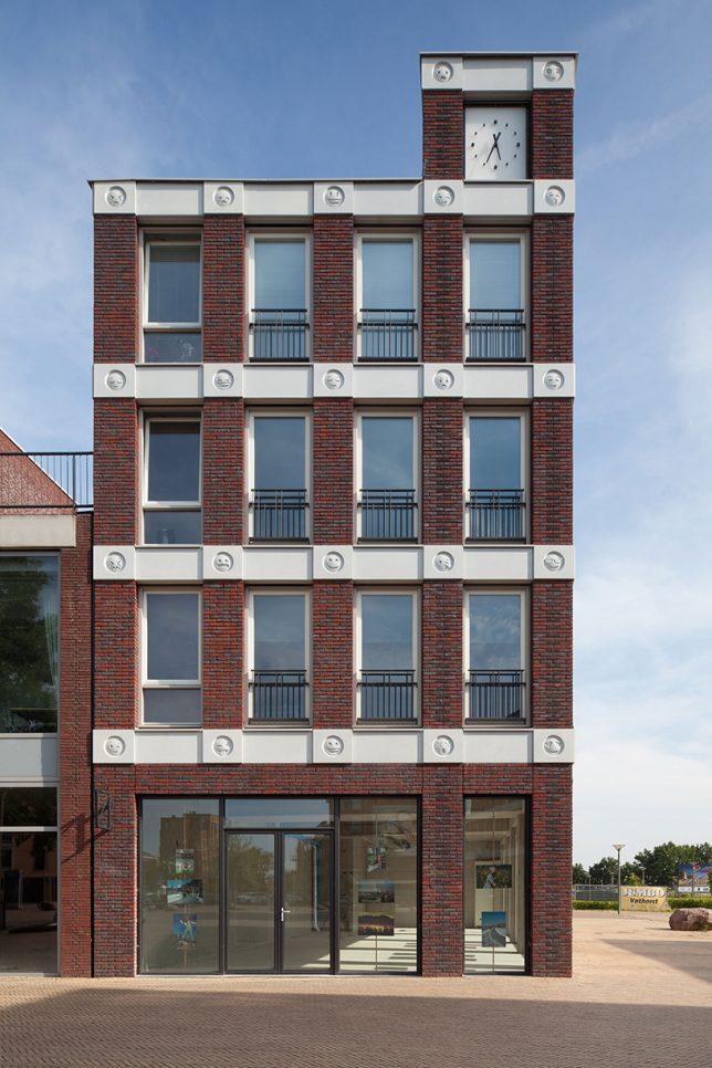 emoji facade dutch architects decorate brick building with 22