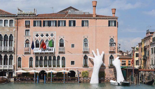 helping hands support sculpture braces venetian