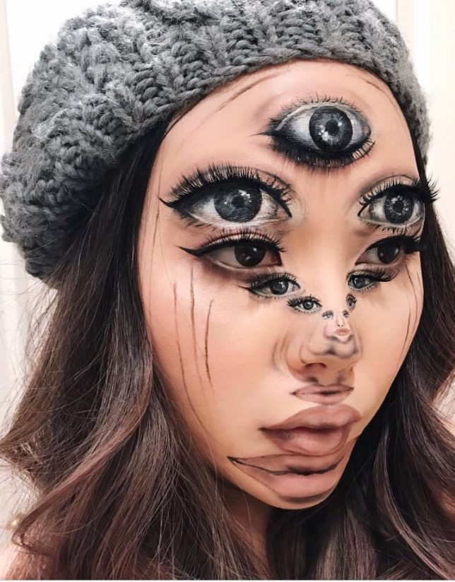 """... her optical illusions, Mimi says, """"To be honest, I never thought anybody would be interested in following my bizarre late-night creations a few years ..."""