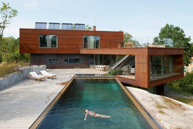 Modern Homes For Mermaids Houses Built Around Swimming Pools