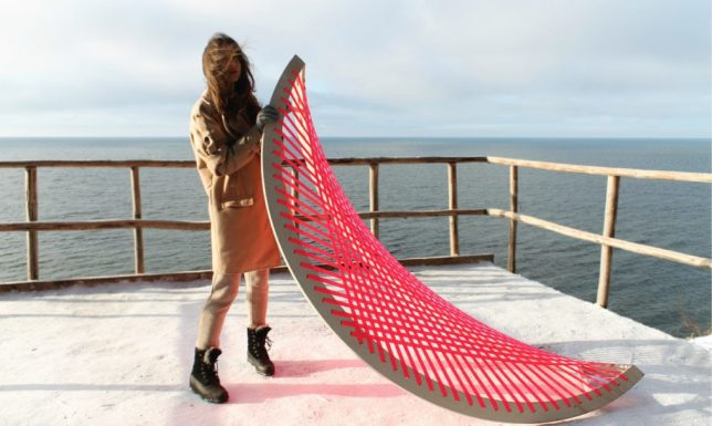 not only does this vivid pink hammock by designer agota rimsaite not need any traditional hammock supports stretched across a curving wooden frame that     hang loose  13 hammock innovations for max relaxation   urbanist  rh   weburbanist