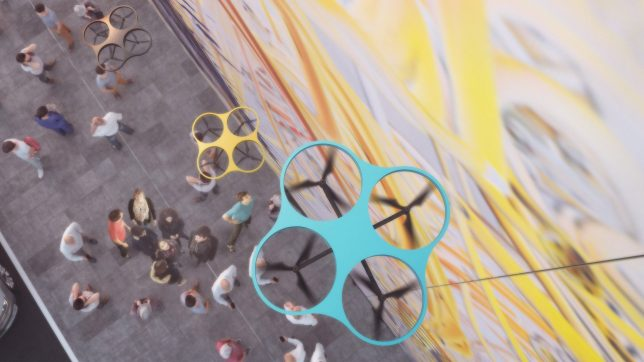 Graffiti by Drone: Team of Spray-Painting UAVs to Make Huge Mural in Berlin