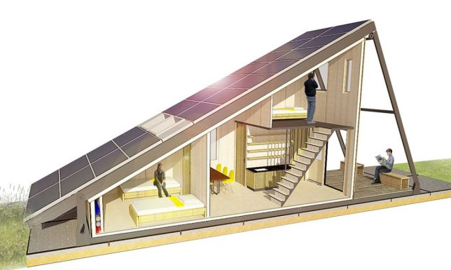 Rethinking the refugee camp 8 architectural proposals for asylum submitted to home away from home a design competition inviting innovative proposals for affordable asylum housing solar cabin by bureau zondag and stopboris Image collections