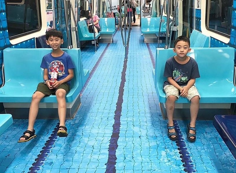 Swim On The Subway Taipei Train Cars Transformed Into
