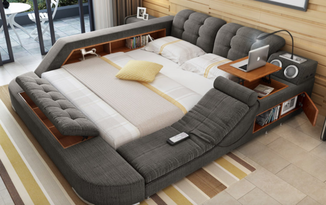Lovely ... Mattress To Find Plenty Of Storage Underneath For Extra Bedding And  Ubiquitous Pillows. Thereu0027s Also Hidden Storage In The Bench At The Foot Of  The Bed, ...