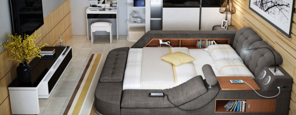 You Ll Never Want To Leave This All In One Bed Full Of Gadgets Storage