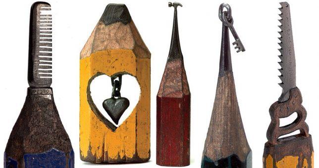 Pencil art sculptures explore the hidden beauty of