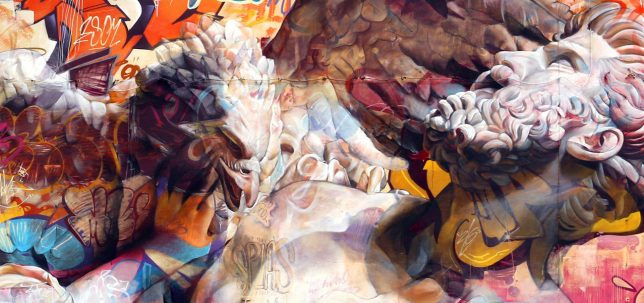 Graffiti Photography - Beautiful giant murals greek gods pichi avo