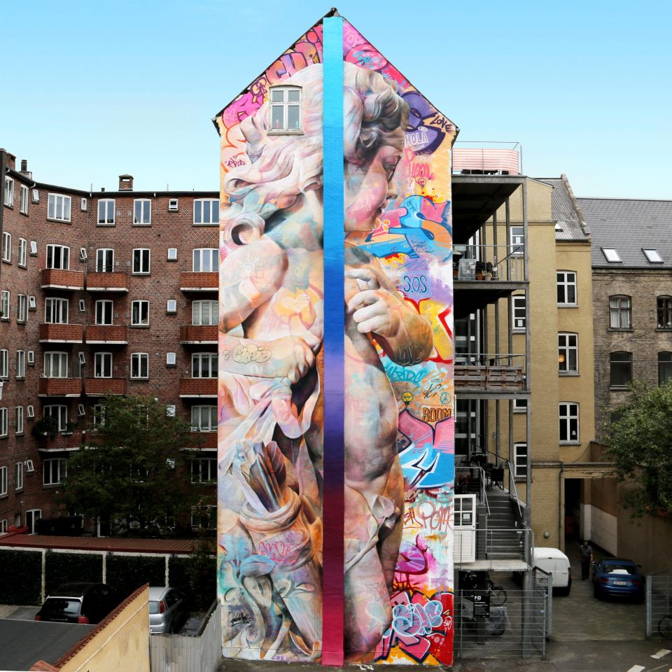 Greek Gods Graffiti Classically Styled Street Art By Spanish Duo - Spanish street artist transforms building facades into amazing artworks