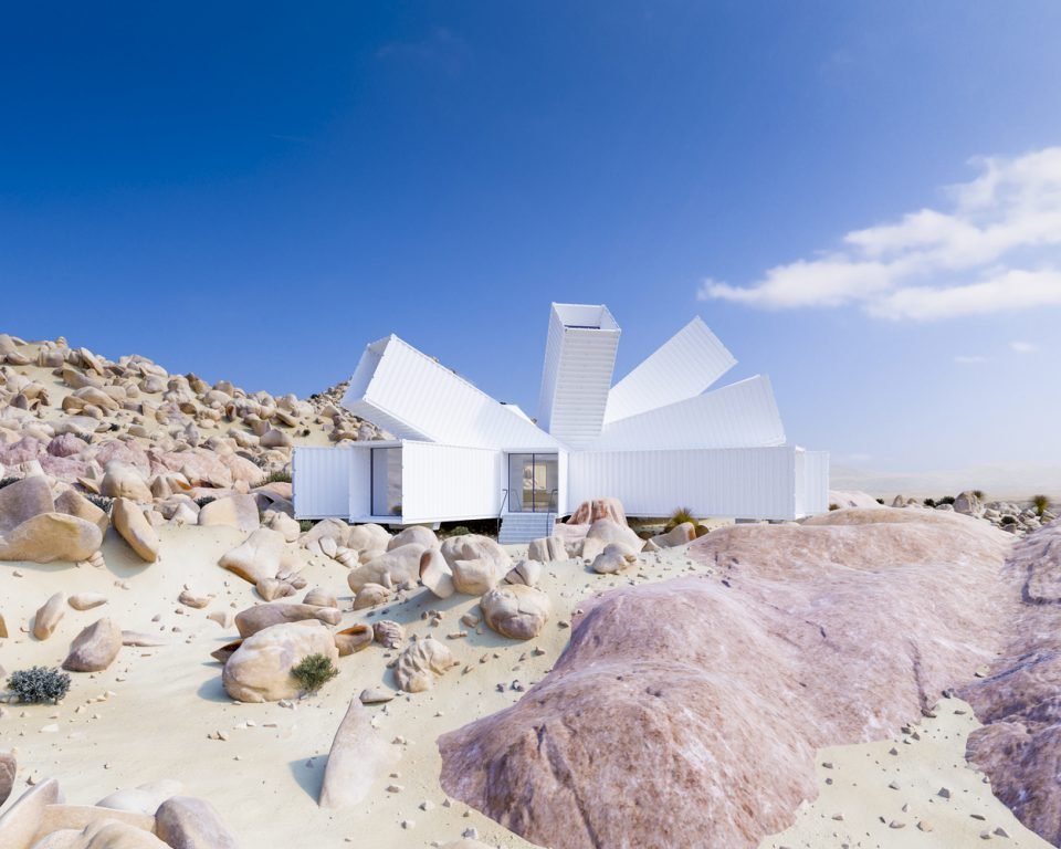 Spiky Shipping Container Home Blooms Like A Flower In The Joshua Tree Desert Urbanist