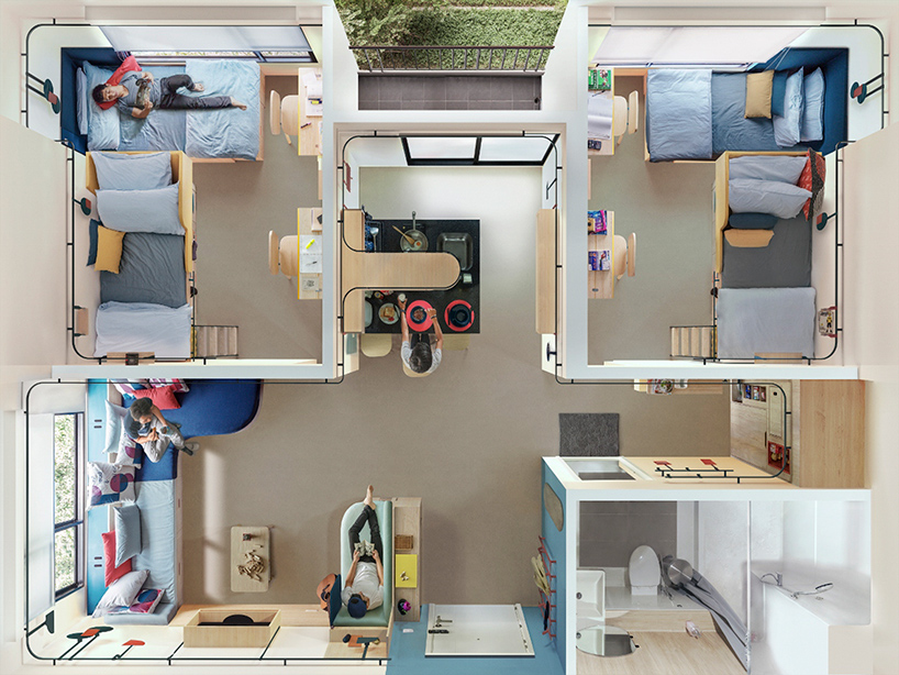 7 Students, 1 Tiny Apartment: Ultra-Compact Co-Living Design by ...