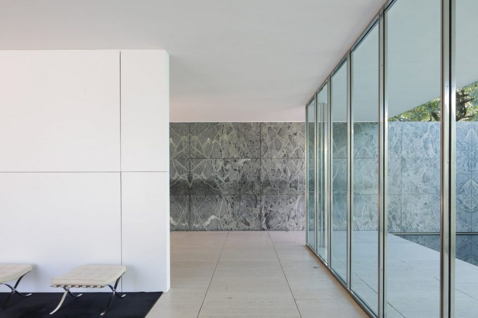 Mies Makeover: Artists Cover Barcelona Pavilion\'s Marble Walls ...