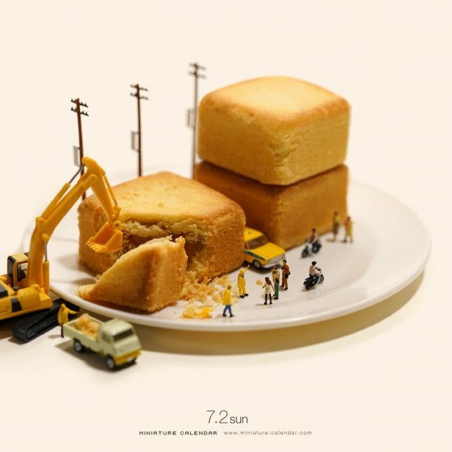 Miniature Calendar.Miniature Calendar Photo Project Tiny Scenes For Each Day Of The