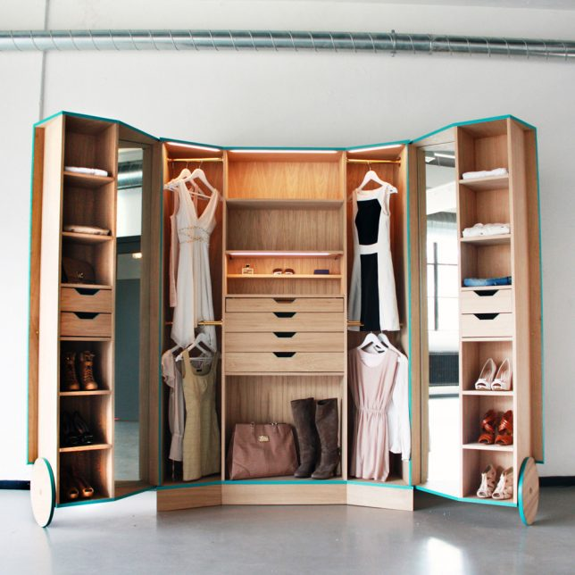 Portable Walk-In Closets & 14 Other Ways To Make A Studio