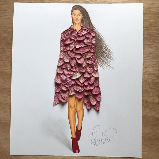 3d Fashion Illustrations Organic Textures Bring Runway Drawings To Life Urbanist