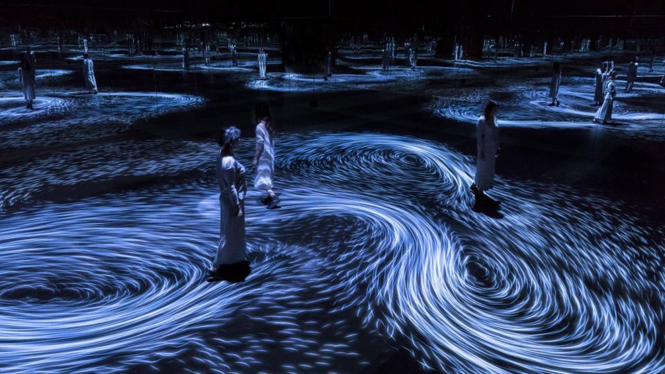 Psychedelic Waves: Step Into a Swirling Vortex Inside an Infinity ...