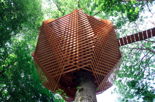 Origin Tree House Modern Wooden Hotel Room In A French