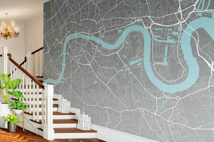 Mounting Maps On Walls Is Nothing New, But Getting Floor To Ceiling  Wallpaper Designed To Fit In A Wide Variety Of Individual Spaces And  Existing Color ...