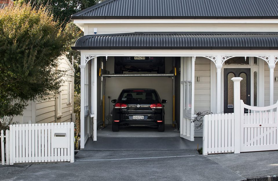 Operable Facade Front Wall Windows Conceal Hidden Garage Door