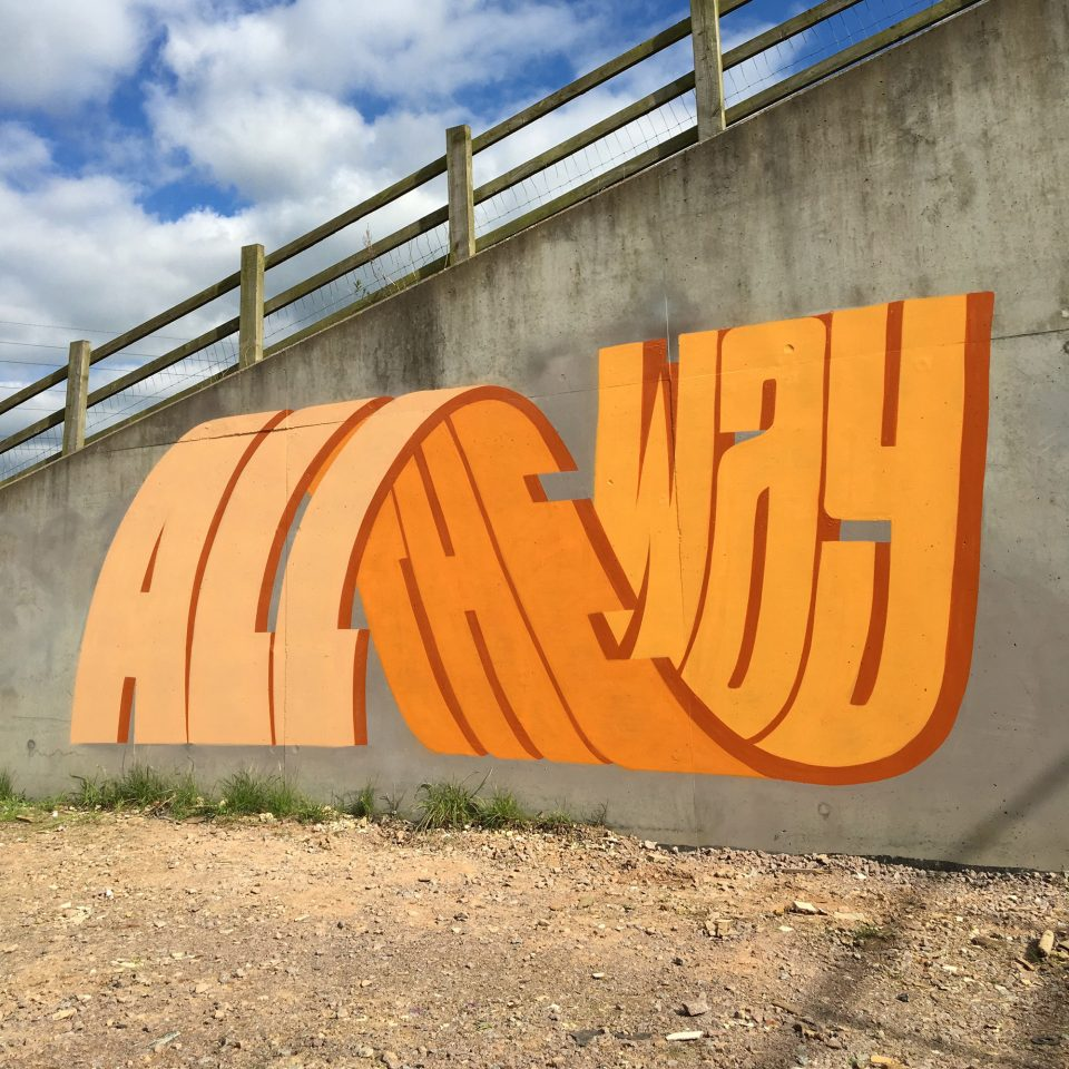 Between The Lines 3D Graffiti Artist Layers Letters To Form Punchy Phrases