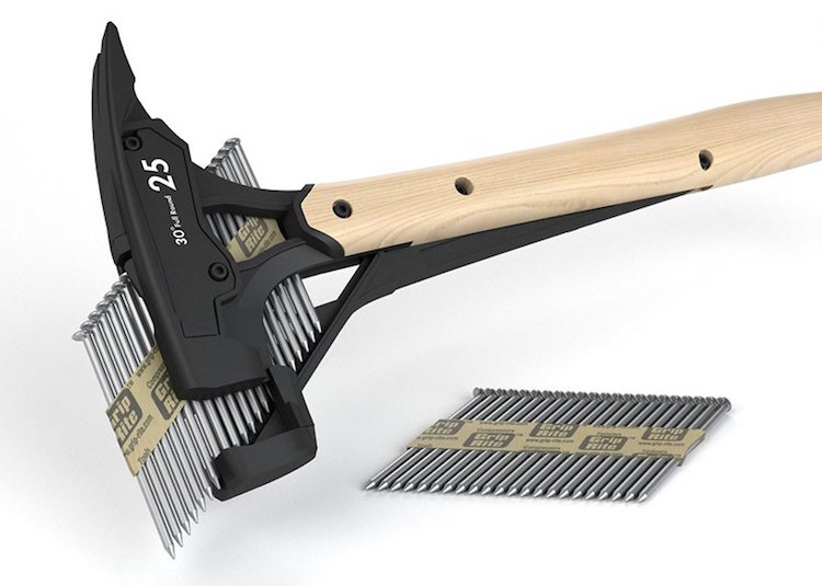 Fast Driver Powerless Auto Hammer Packs Strip Of Nails For Diy