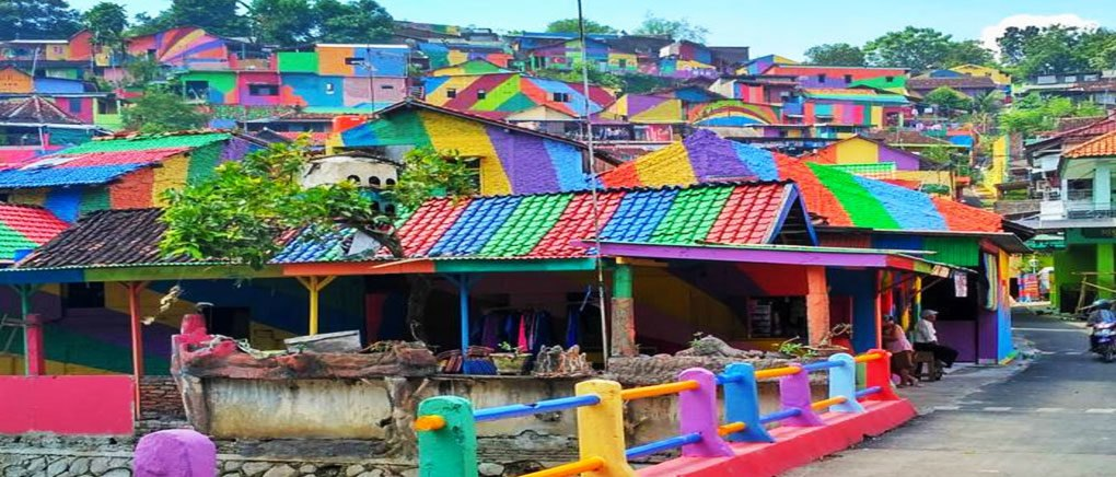 Colorful Village in Indonesia