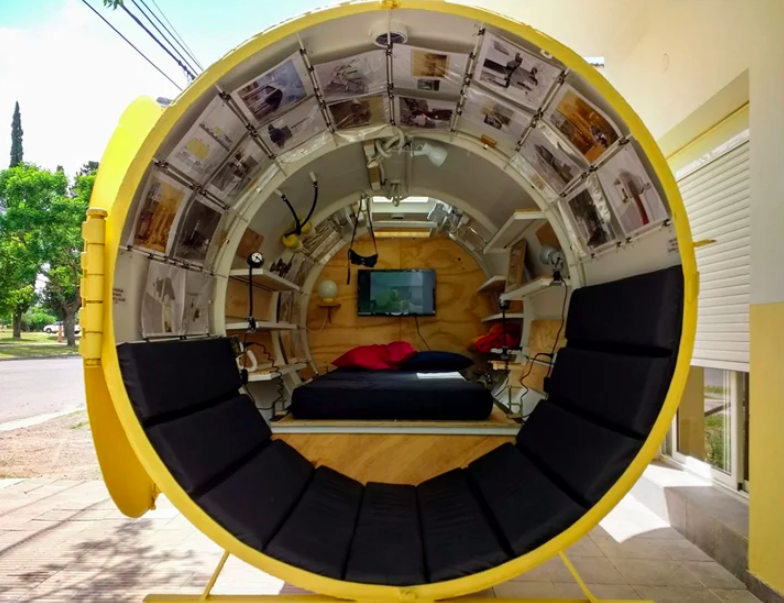 Project Bunker Makes a Tiny Home out of a Diesel Oil Tank
