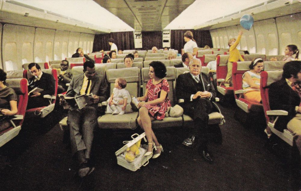 A Pan Am 747 flight in the 1960s