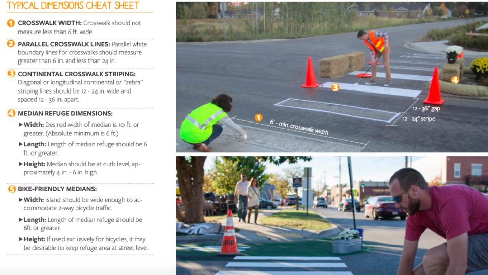 DIY crosswalks