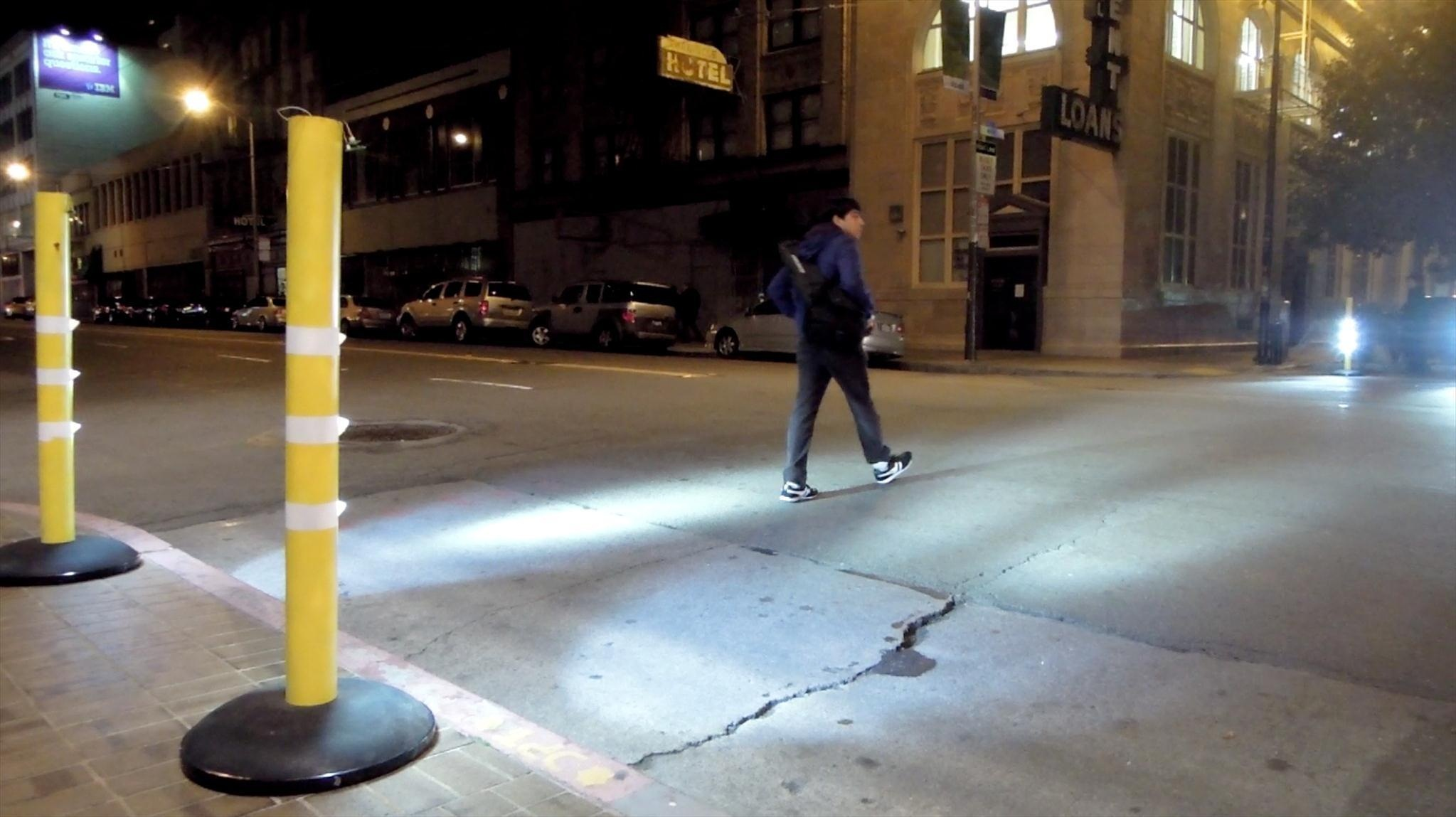 Illuminated crosswalk