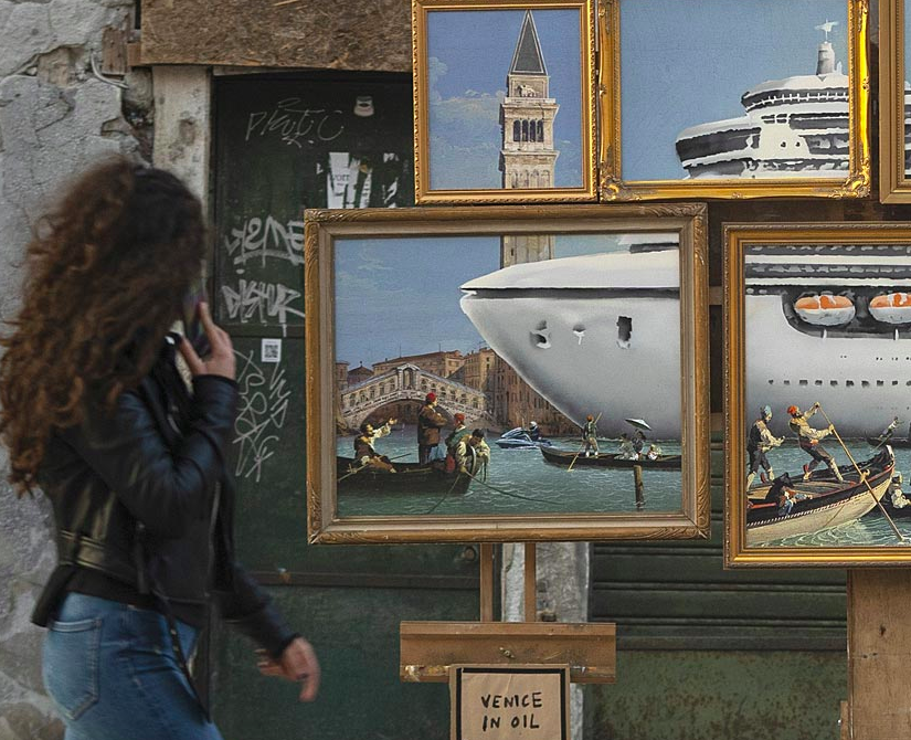 Banksy Crashes the Venice Biennale with a Critical Street Stall